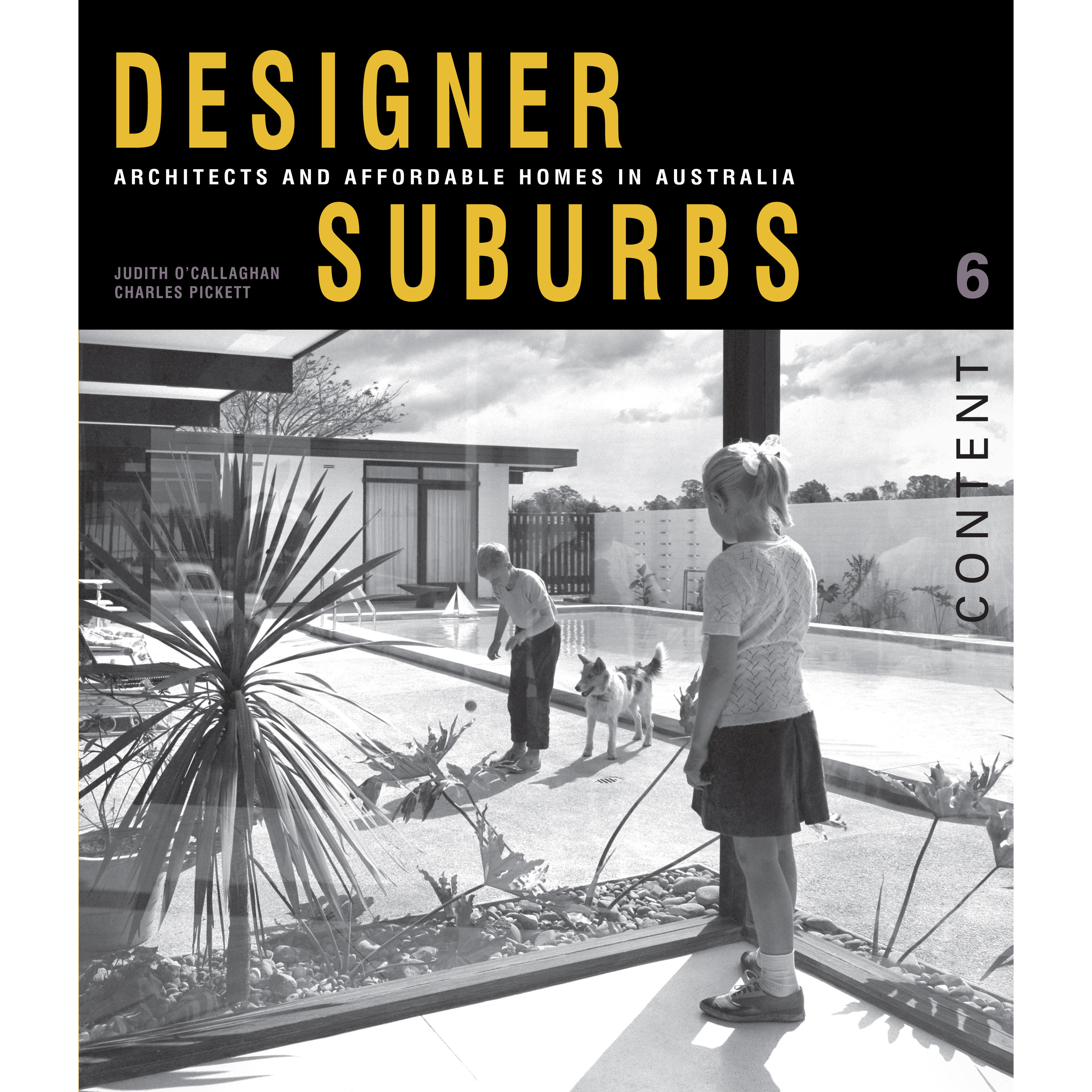 Book cover, Designer Suburbs: Architects and Affordable Homes in Australia.