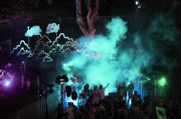 Image of people dancing at a concert