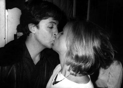 Paul and Linda McCartney, Abbey Road Studios London 1982. Image: Robert Rosen
