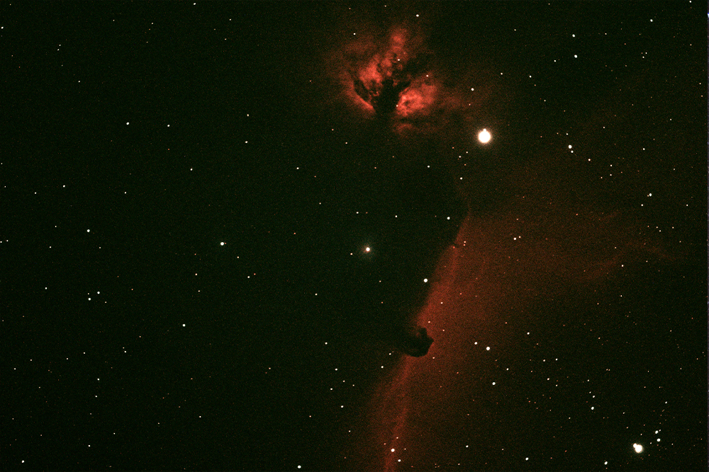 Night sky photo of Horsehead Nebula